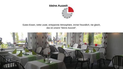 Ein Restaurant oder anderes Speiselokal in der Unterkunft Bremer Schlüssel