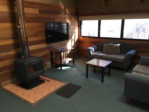 A seating area at Girraween Environmental Lodge