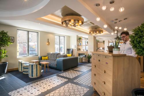 The lobby or reception area at Point A Hotel Edinburgh Haymarket