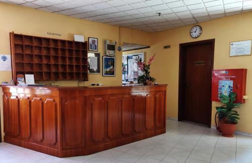 Ο χώρος του λόμπι ή της ρεσεψιόν στο Titania Hotel Karpathos