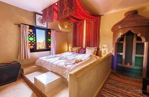 Cama o camas de una habitación en Riad Cafe Du Sud
