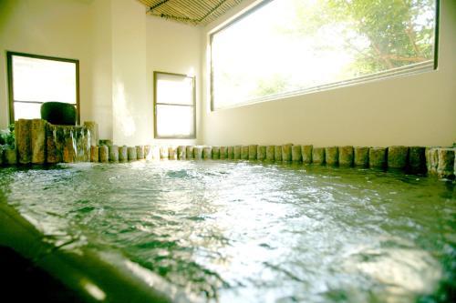 The swimming pool at or near Masutomi Ryokan