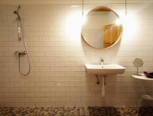 A bathroom at Füveskert