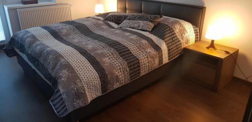 Posteľ alebo postele v izbe v ubytovaní VIP Apartmány Žabník