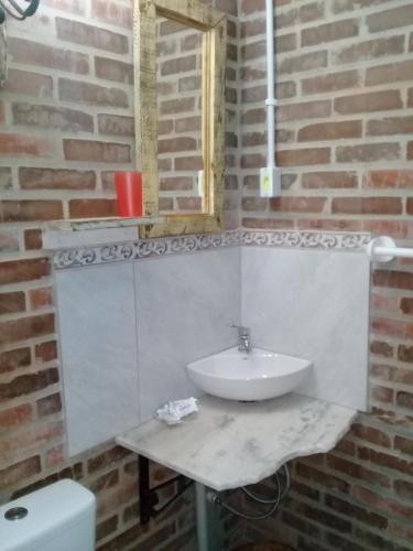 A bathroom at Cabana El Polista Estilo Campo