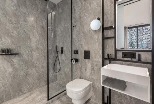 A bathroom at The Duke Boutique Suites