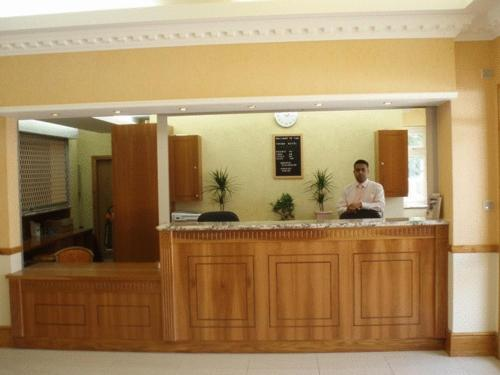 The lobby or reception area at Viking Hotel