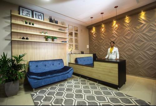 The lobby or reception area at Hotel Casa Nova