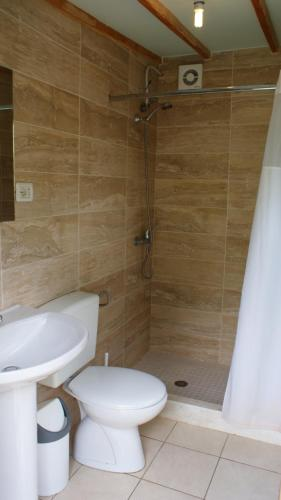 Koupelna v ubytování Boga Alpine Resort
