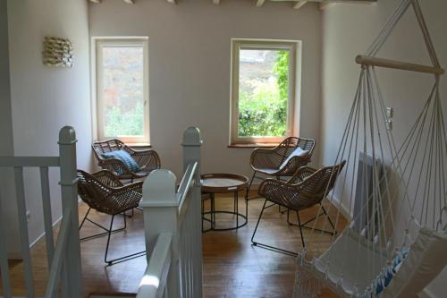 A seating area at La Folie des Remparts