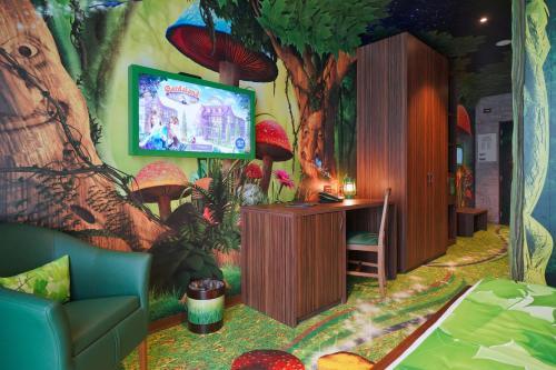A seating area at Gardaland Magic Hotel