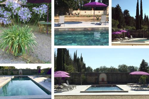 The swimming pool at or close to Chateau de Raissac