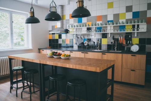 Küche/Küchenzeile in der Unterkunft Patio Hostel