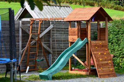 Children's play area at Langenuen Motel & Camping