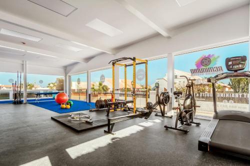 Het fitnesscentrum en/of fitnessfaciliteiten van Playa Park Zensation