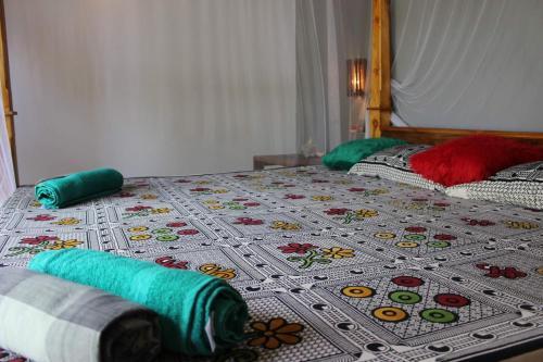 Cama o camas de una habitación en Golden Lodge