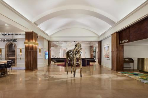 The lobby or reception area at Saint Kate - The Arts Hotel