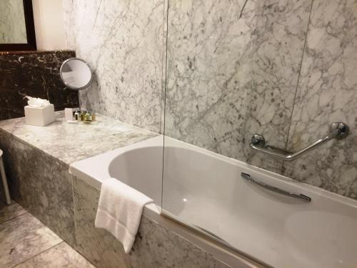 A bathroom at The Xara Palace Relais & Chateaux