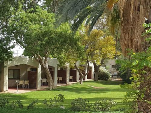 A garden outside Kalia Kibbutz Hotel