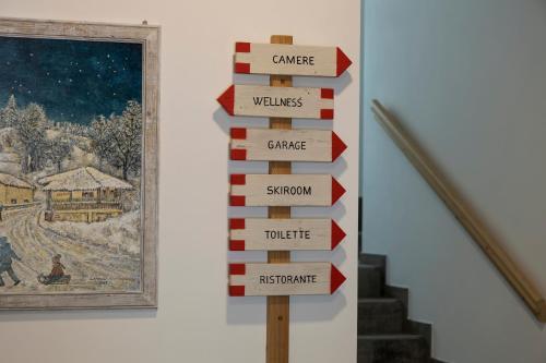 The floor plan of Garnì & Wellness Anderle