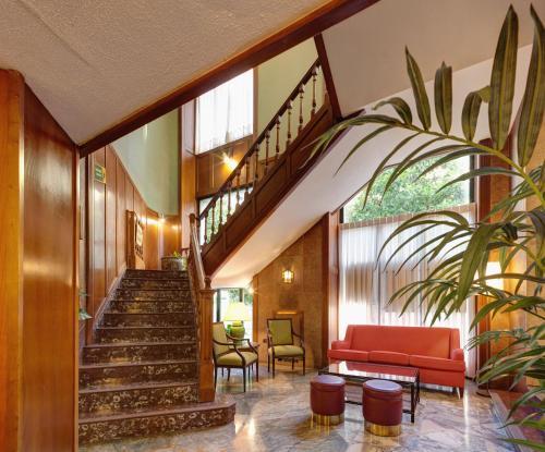 El vestíbulo o zona de recepción de Hotel Hernán Cortés