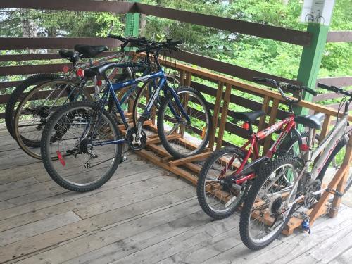 Vélo sur le terrain de l'établissement Ermitage Saint-Antoine ou dans les environs