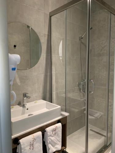 Kylpyhuone majoituspaikassa Argiro Village