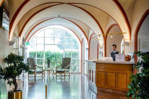 Lobby/Rezeption in der Unterkunft Hotel am Mirabellplatz