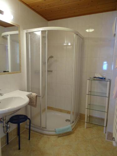Koupelna v ubytování Hotel Sporthof