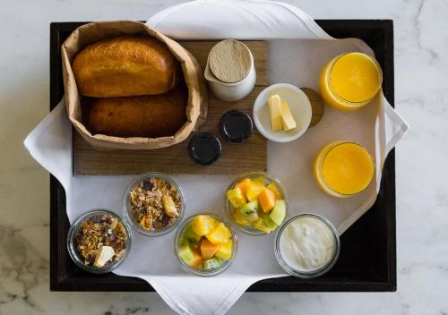 Breakfast options available to guests at Port Phillip Estate