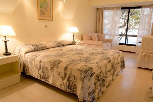 Cama o camas de una habitación en Hotel Horacio Quiroga