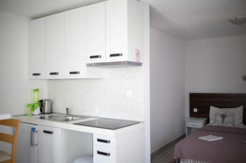 Kuhinja ili čajna kuhinja u objektu Apartments ANA Karlobag