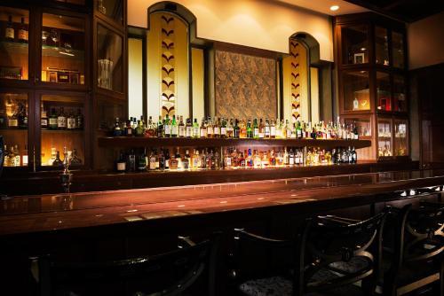 The lounge or bar area at Hotel Hankyu International