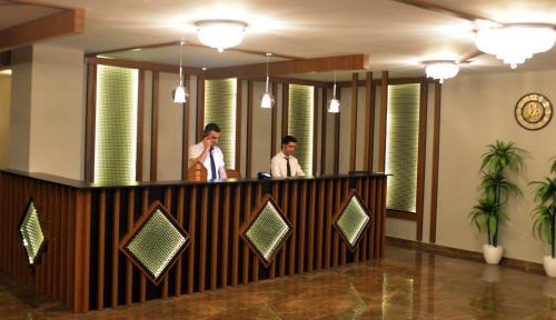 The lobby or reception area at TEVETOGLU HOTEL