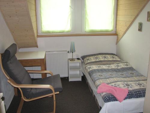 Postel nebo postele na pokoji v ubytování Ubytování Benátky u Litomyšle