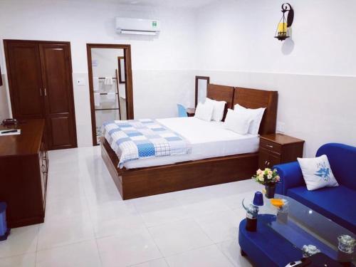 Giường trong phòng chung tại Konklor Hotel