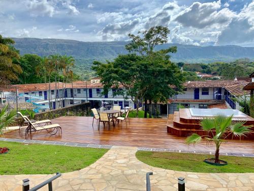 Uma vista da piscina em Hotel Ponta do Morro ou nos arredores