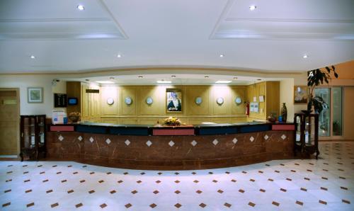 The lobby or reception area at Haffa House Hotel