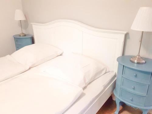 Ein Bett oder Betten in einem Zimmer der Unterkunft Ferienhaus  Lichtblick
