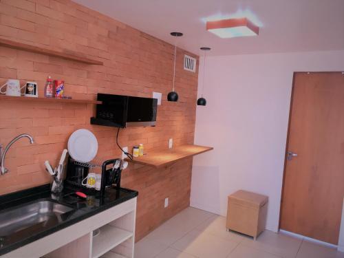 Küche/Küchenzeile in der Unterkunft Visual Roc Hostel