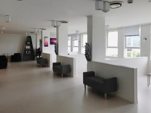 The lobby or reception area at Senjagarden