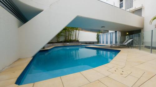 The swimming pool at or near Monterey Lodge Unit 16, 27 Warne Terrace. Kings Beach