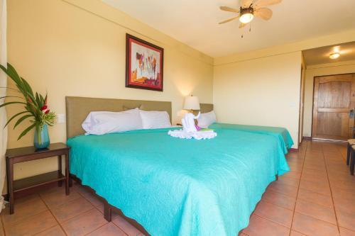 Cama o camas de una habitación en Vista Ballena