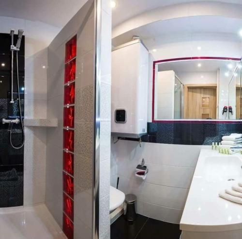 Łazienka w obiekcie A&B Apartments