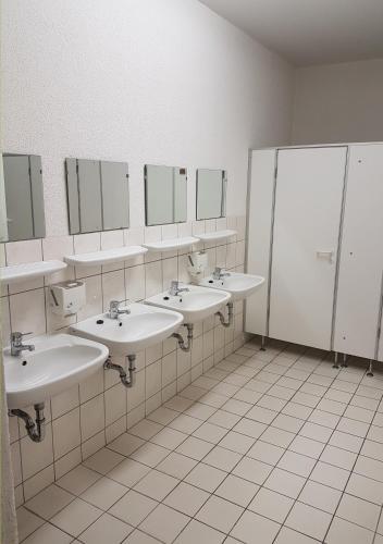 A bathroom at Hostel jo-si