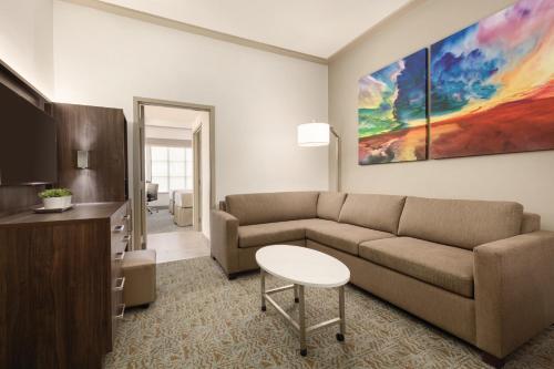 A seating area at Buena Vista Suites