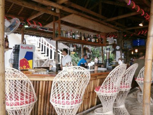 The lounge or bar area at Nigi Nigi Nu Noos 'e' Nu Nu Noos