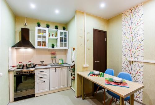 Кухня или мини-кухня в Nice hostel Crocus