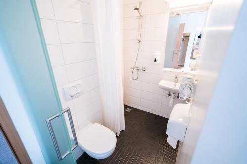 Salle de bains dans l'établissement Skulagardur