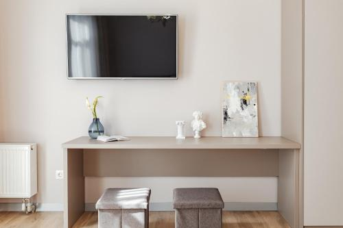A television and/or entertainment center at Central Barkar Apartments